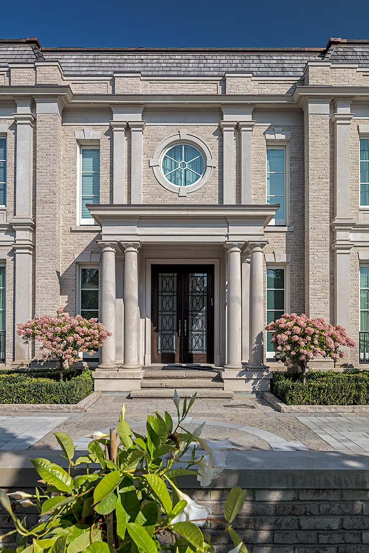 128HIL-8619, Custom Homes Neoclassical - Makow Architects