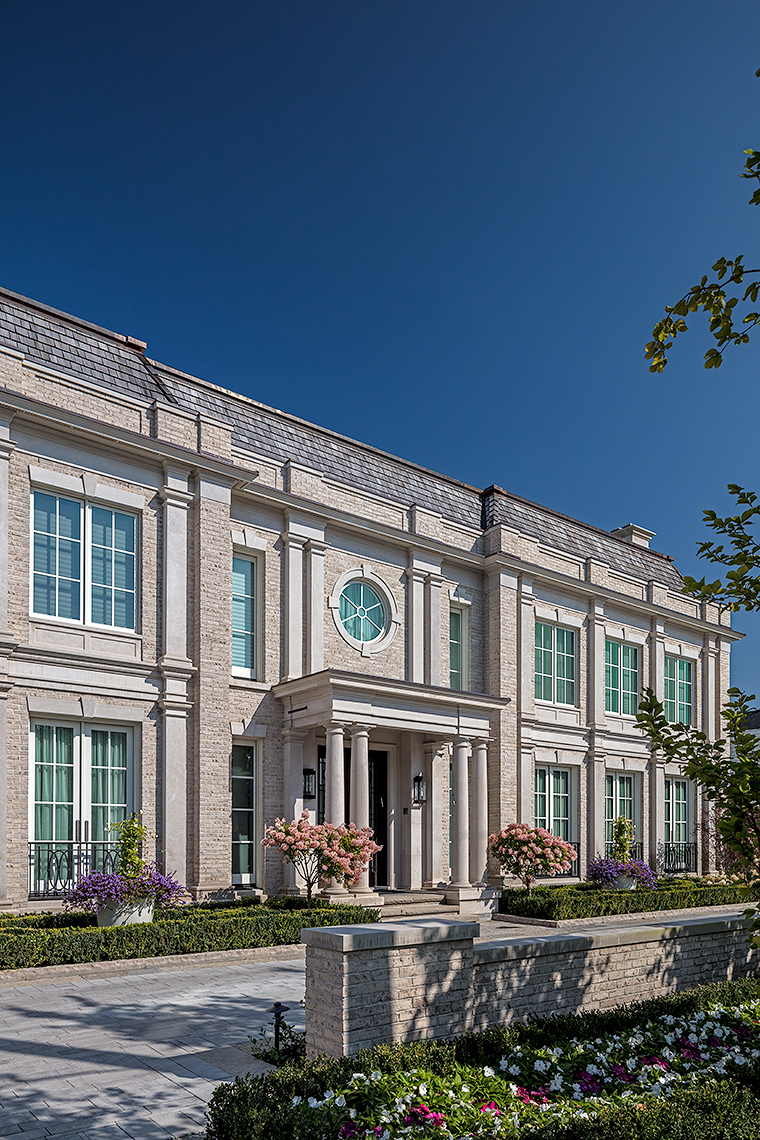 128HIL-8652, Custom Homes Neoclassical - Makow Architects
