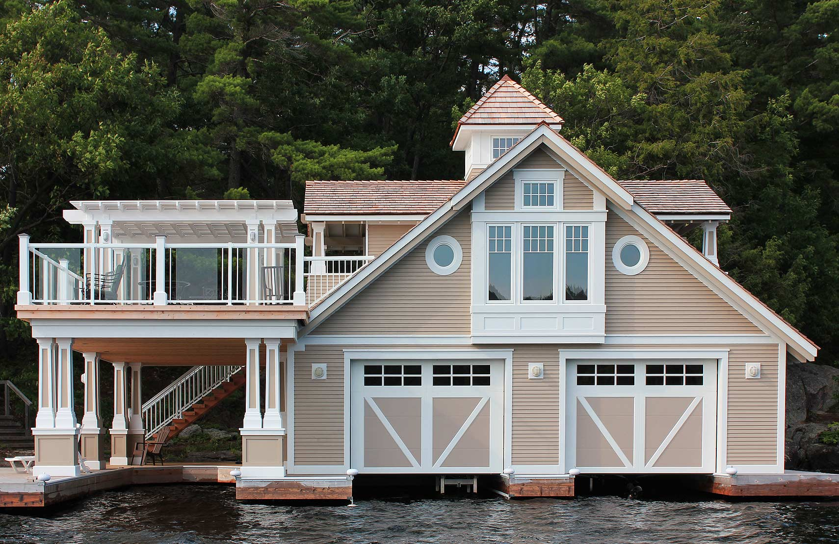 Ontario Cottage and Vacation Home Lake Muskoka Boathouse