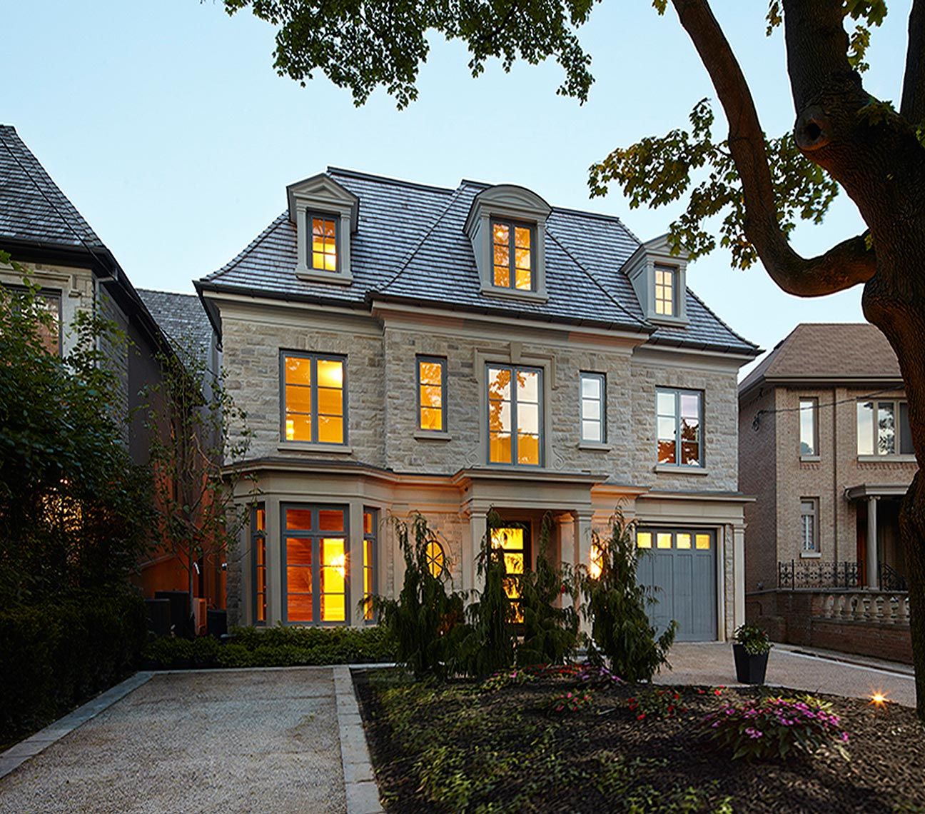 Custom Homes French Transitional (4) - Makow Architects